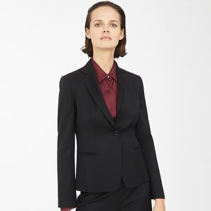 MaxMara Antonia Black Wool Blazer